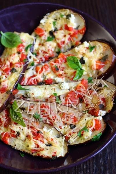 Рецепт баклажанов, запеченных с помидорами и сыром - рецепт и фото