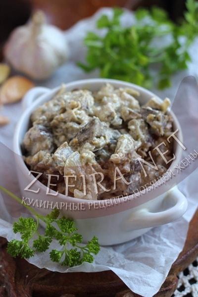 Баклажаны с луком в сливках - рецепт и фото