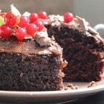 Постный шоколадный кекс без яиц
