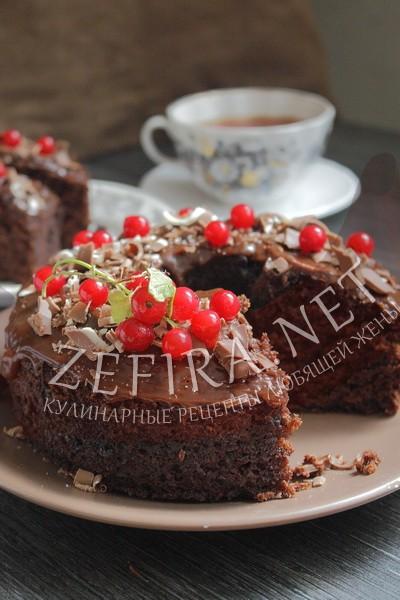 Постный шоколадный кекс без яиц - рецепт и фото