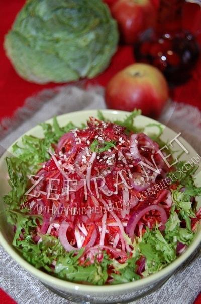 Овощной салат «Здоровье» из капусты, моркови и свеклы - рецепт и фото