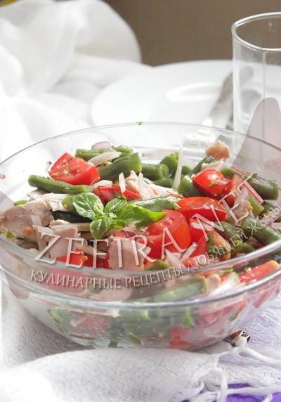 Салат из зеленой стручковой фасоли - рецепт и фото