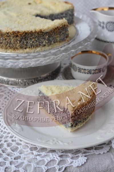 Творожно-маковый пирог - рецепт и фото