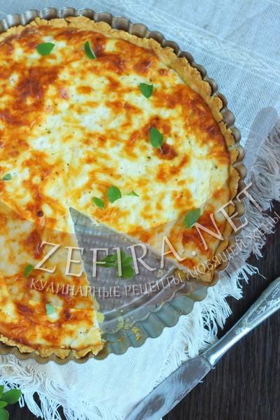 Творожно-сырный пирог - рецепт и фото