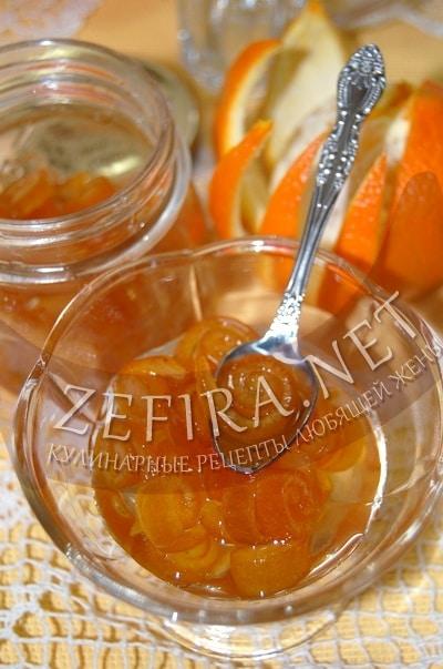 Варенье из апельсиновых корочек «Завитушки» - рецепт и фото