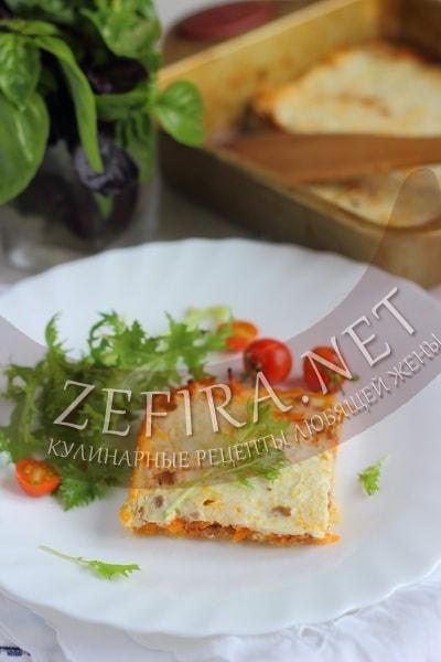 Запеканка из тертых кабачков с фаршем - рецепт и фото