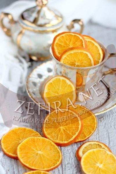Апельсиновые чипсы - рецепт и фото