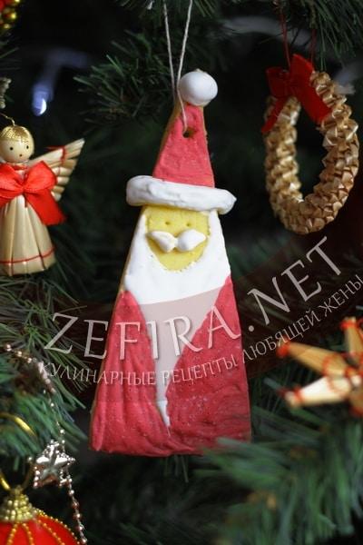 новогоднее печенье дед мороз - рецепт и пошаговые фото