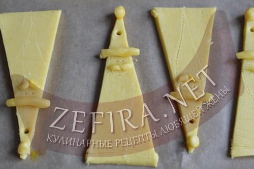 новогоднее печенье дед мороз - 3 шаг приготовления