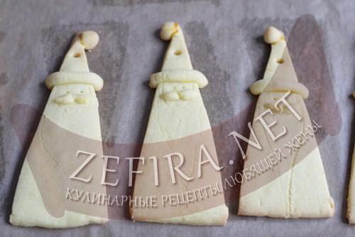 новогоднее печенье дед мороз - 4 шаг приготовления
