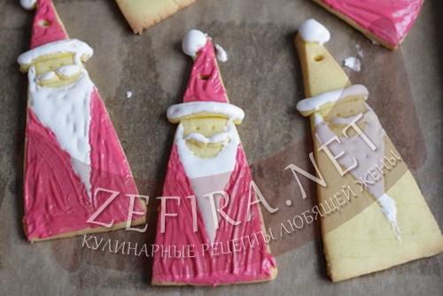 новогоднее печенье дед мороз - 6 шаг приготовления