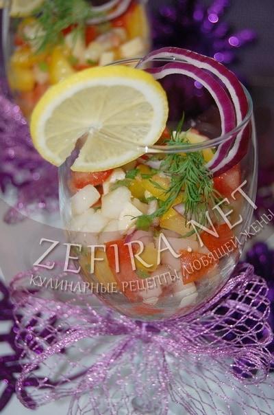 Праздничный салат-коктейль - рецепт и фото