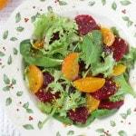 Салат из мандаринов со свеклой