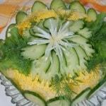Салат-торт из крекеров