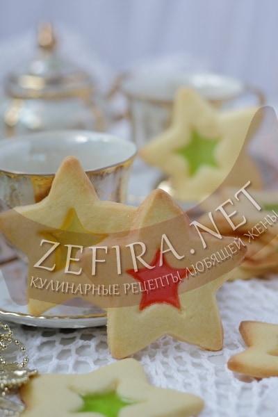Витражное печенье с мармеладом - рецепт и фото