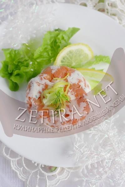 Закуска из рыбы со сливочным сыром - рецепт и фото