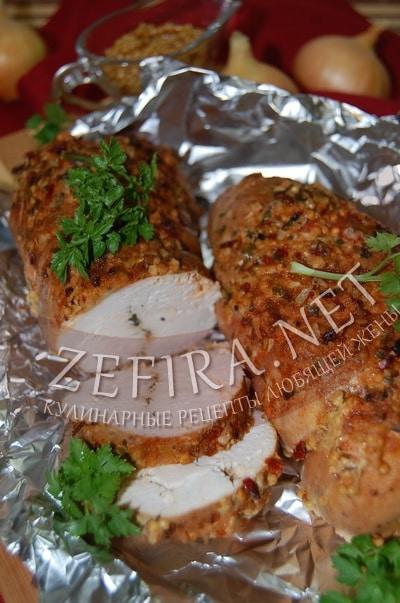 Запеченная в духовке куриная грудка в горчице - рецепт и фото