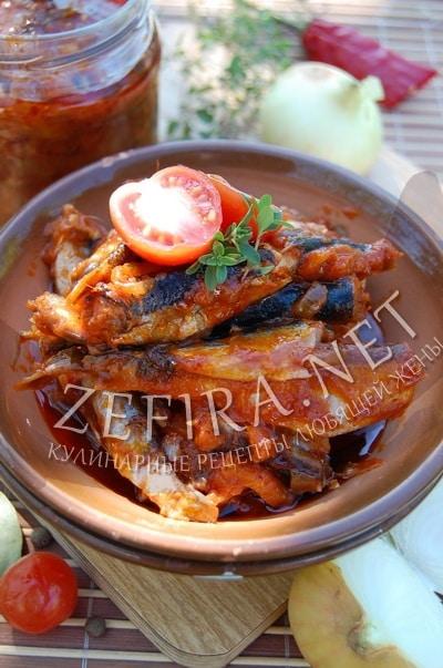 Домашняя килька в томате - рецепт и фото