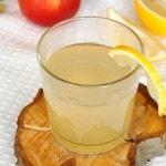 Яблочный напиток с медом и лимоном