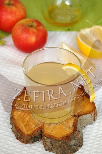 Яблочный напиток с медом и лимоном - рецепт и фото