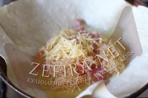 Ёка - рецепт омлета в лаваше - пошаговое приготовление шаг3