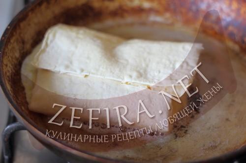 Ёка - рецепт омлета в лаваше - пошаговое приготовление шаг4