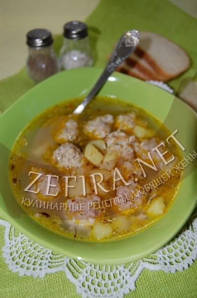 Картофельный суп с мясными фрикадельками - рецепт и фото