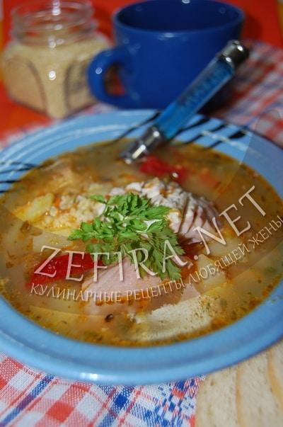 Рыбный суп из скумбрии с пшеном - рецепт и фото