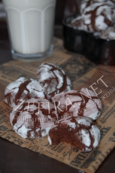 Домашние шоколадные пряники с трещинками - рецепт и фото