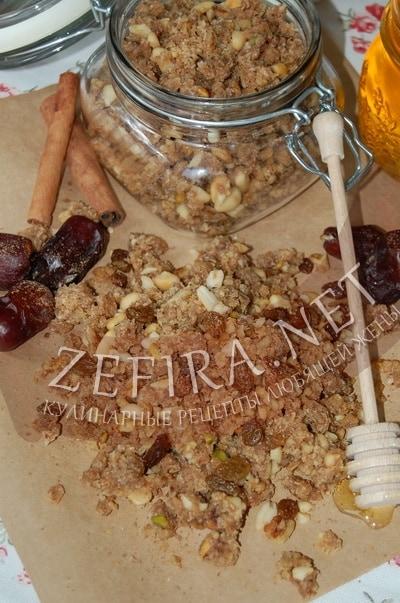 Рецепт домашней гранолы с фото