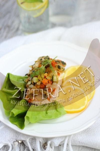 Кета, запеченная в духовке с овощами - рецепт и фото