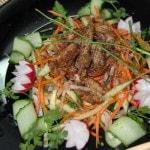 Овощной салат с курицей по-корейски