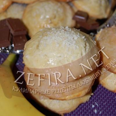 простые рецепты песочного печенья с бананом