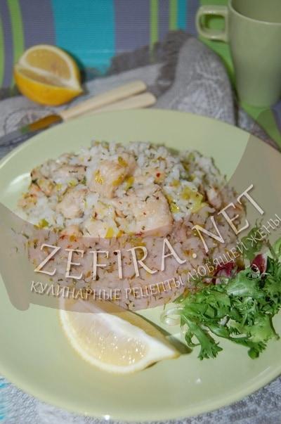 Рис с рыбой и луком - рецепт и фото