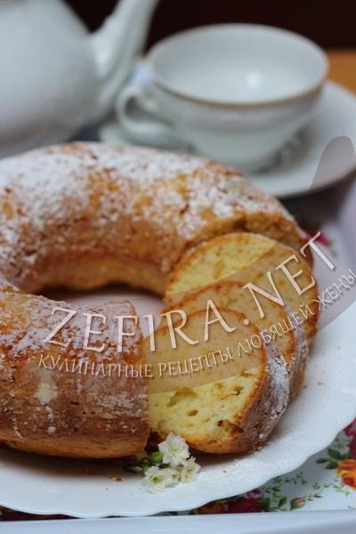 Сметанный кекс на растительном масле - рецепт и фото