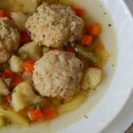 Суп из замороженных овощей с мясными ёжиками