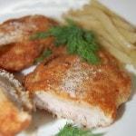 Свиные отбивные в сырной панировке на сковороде
