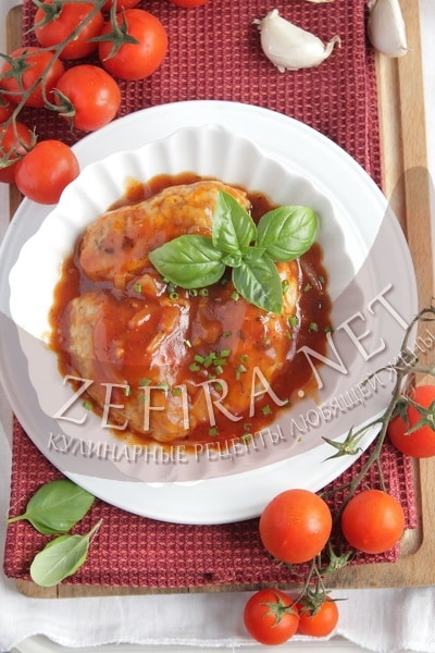 Гречаники с фаршем, запеченные в томатном соусе - рецепт и фото