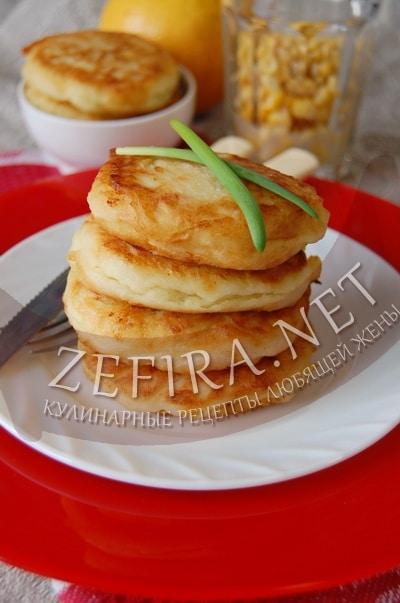 Картофельные биточки с кукурузой – постный рецепт и фото