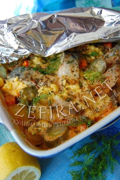 Овощное рагу с рыбой в сливочно-томатном соусе – рецепт и фото