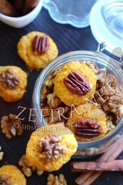 Печенье из моркови с орехами - рецепт и фото