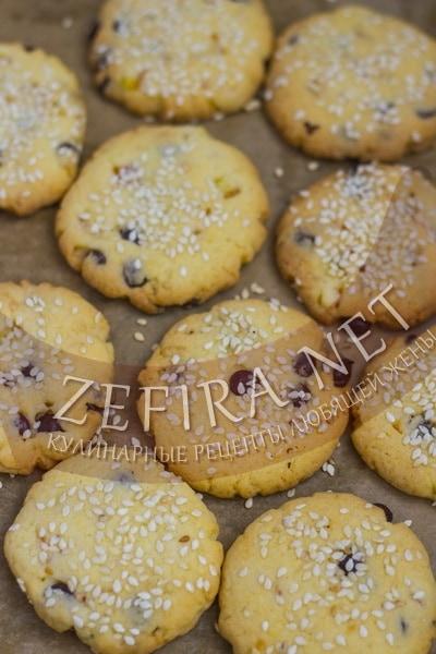 Песочное печенье с кунжутом - рецепт и фото