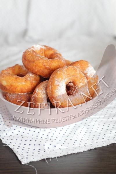 Рецепт жареных в масле творожных пончиков - рецепт и фото