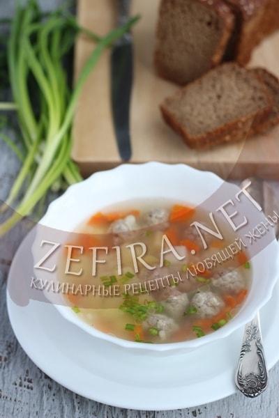 Рисовый суп с фрикадельками - рецепт и фото