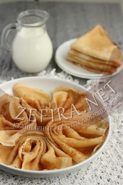 Заварные блины на кефире без яиц - рецепт и пошаговые фото