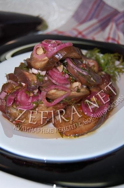 Быстро маринованные баклажаны с чесноком - рецепт и фото