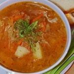 Рецепт кислых щей с помидором