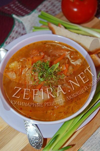 Рецепт кислых щей с помидором - рецепт и фото