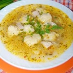 Куриный суп с нежными галушками