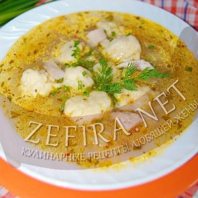 рецепт простого супа с галушками
